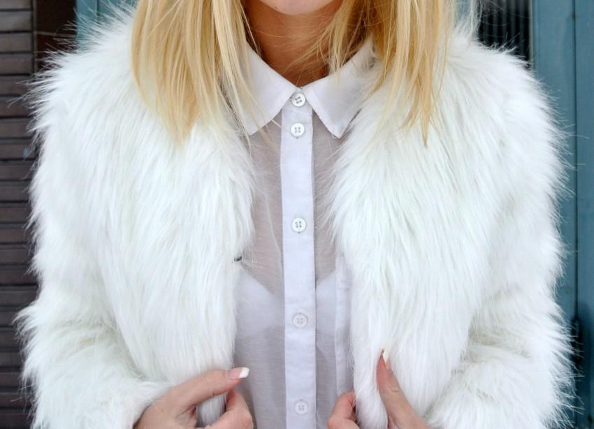 фото блондинок в шубе