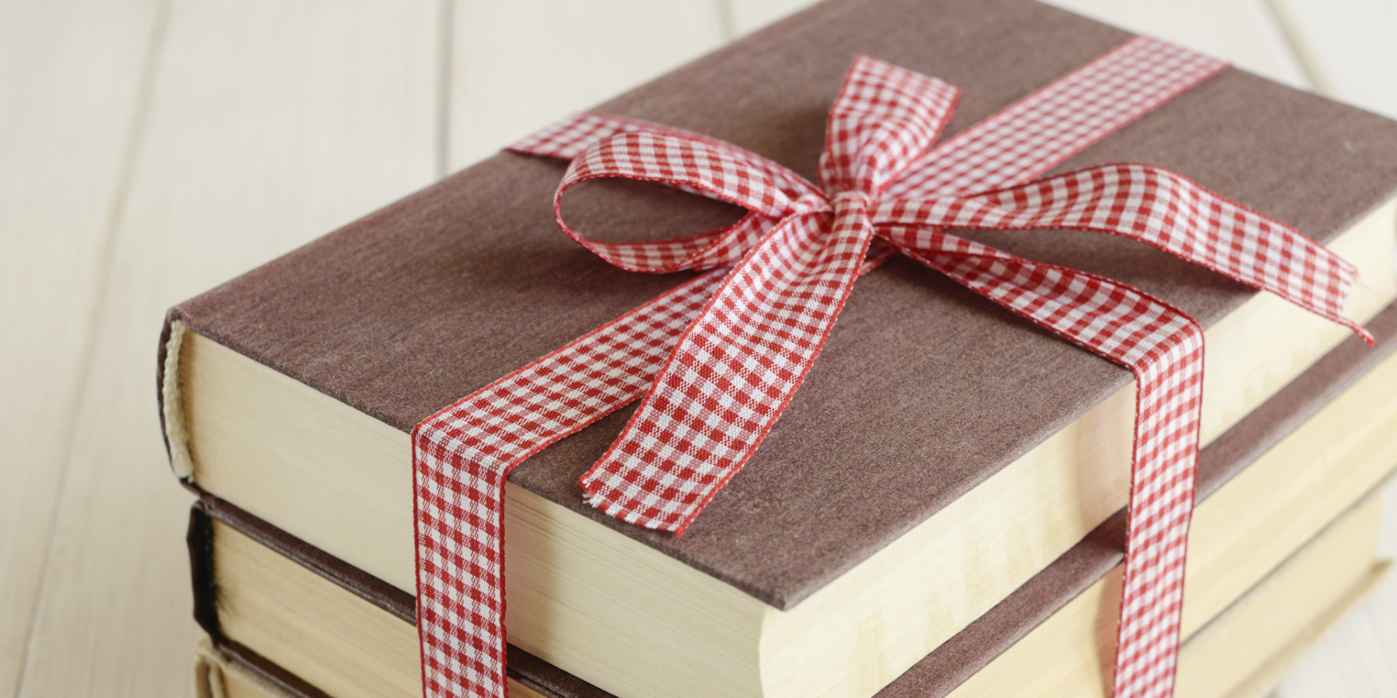 Decorative book bundle tied up with bow