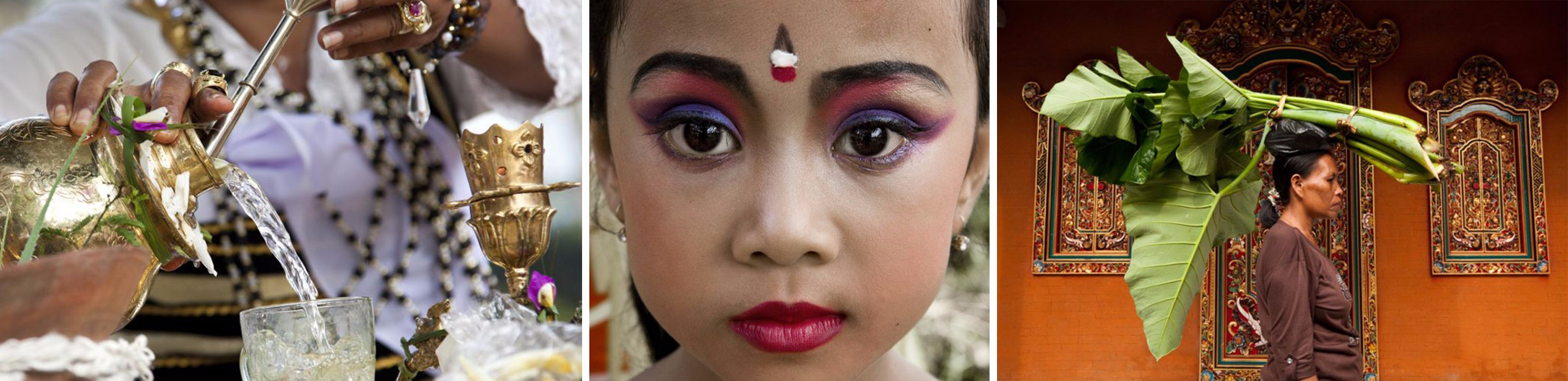 Le donne si muovono con grazia ed eleganza, danzano e lavorano in un universo dove anche le risaie, le lussureggianti piante tropicali e le pietre sono animate dalla Shakti, l'energia divina femminile.