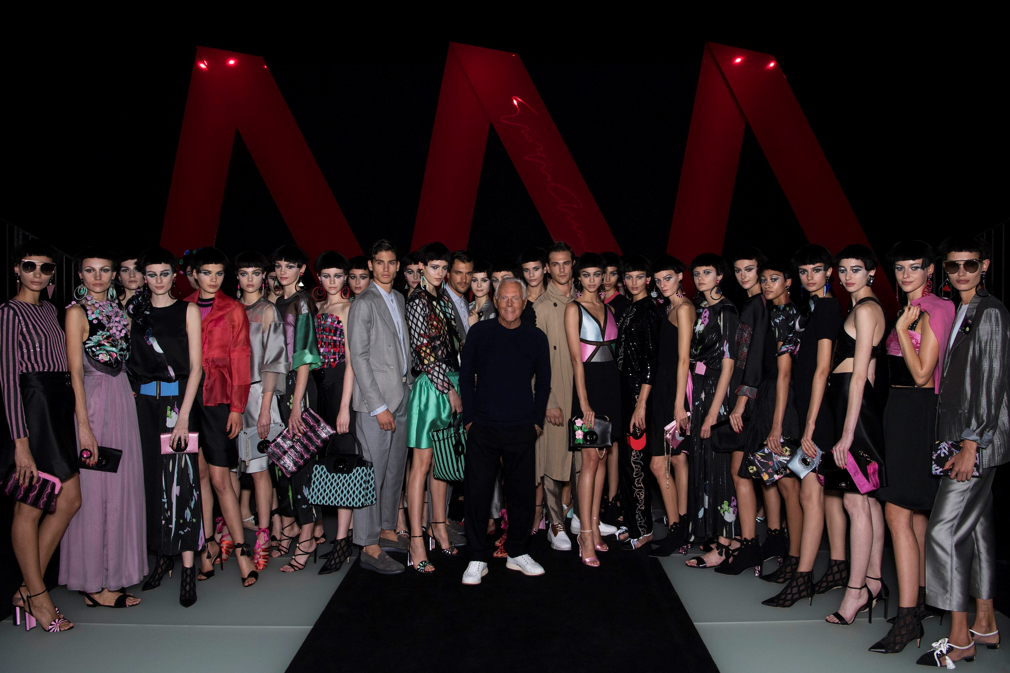Giorgio Armani Womenswear SS18_GA with models